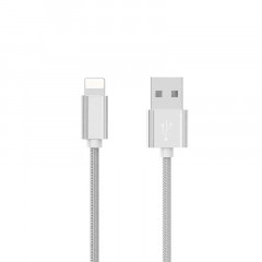Кабель USB Hoco X2 Knitted iPhone Lightning Silver 1m