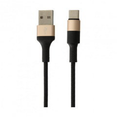 Кабель USB Hoco X26 Xpress Type-C Black/Gold 1m