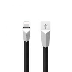 Кабель USB Hoco X4 Zinc Alloy Rhombic iPhone Lightning Black 1.2m