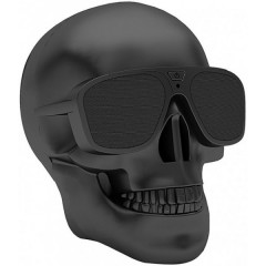 Bluetooth-колонка Череп Dabs Audio Skull Chrome Black (543-01)