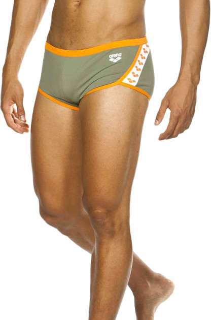 Плавки Arena M Team Stripe Low Waist Short 001280-635 85 Army/Tangerine (3468336158074)