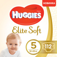 Подгузники Huggies Elite Soft 5 12-22 кг 112 шт (5029054566237)