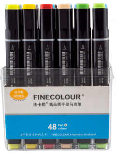 Набор маркеров Finecolour Brush 48 цветов (EF102-TB48)