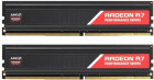 Оперативна пам'ять AMD DDR4-2400 8192MB PC4-19200 (Kit of 2x4096) R7 Performance Series (R7S48G2400U1K)