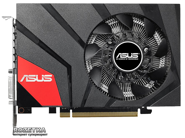 Asus PCI-Ex GeForce GTX 960 Mini 4GB GDDR5 (128bit) (1190/7010) (DVI, HDMI, 3 x DisplayPort) (GTX960-MOC-4GD5)