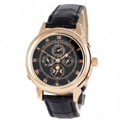 Классические мужские часы Patek Philippe Grand Complications 5002 Sky Moon Black-Gold (10190119)