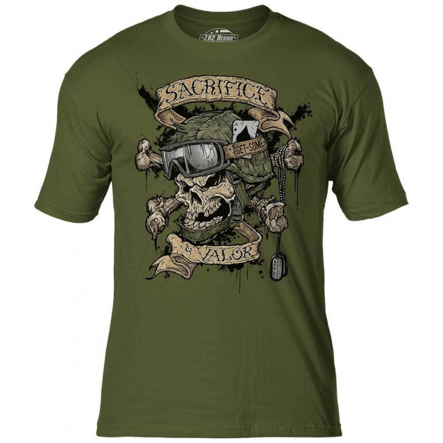 Футболка 7.62 Design Sacrifice & Valor Military Green XL Зеленый (762-001-403MG)