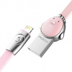 Кабель Rock Chinese Zodiac lightning cable 1M Cook-pink
