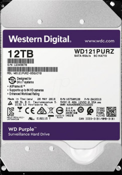 Накопичувач HDD SATA 12.0 TB WD Purple 7200rpm 256MB (WD121PURZ)