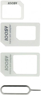 Noosy 4 in 1 Sim Adapter White