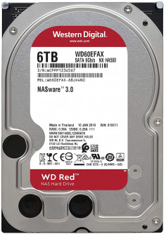 Жесткий диск Western Digital Red 6TB 5400rpm 256MB WD60EFAX 3.5 SATA III