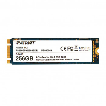 Накопичувач SSD 256GB Patriot Scorch M. 2 2280 PCIe 3.0 x2 3D TLC (PS256GPM280SSDR)