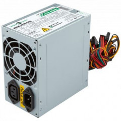 Блок питания GreenVision ATX 400w, 20+4/2*IDE+1*FDD+4P, 2pcs of SATA, 8CM black fan, 0.6mm SECC, 400mm cable from PCB, 230v