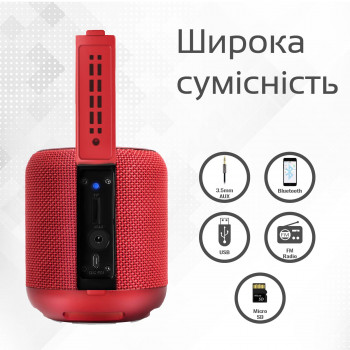Колонка Bluetooth Promate Hummer Red