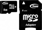 Картка пам'яті MicroSDHC 8GB Team Class 4 + SD adapter (TUSDH8GCL403)