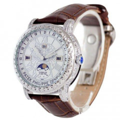 Наручные часы премиум Patek Philippe Grand Complications 6002 Sky Moon Brown-Silver-White - 760356687 - 760356687