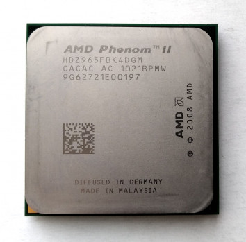 Процесор AMD Phenom II X4 965 Black Edition 3,4 GHz sAM3 Tray 125w (HDZ965FBK4DGM) Deneb Б/У