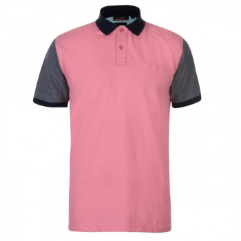 Поло Pierre Cardin Contrast Collar Polo Pink/Navy, L (10073003)