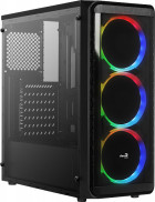 Корпус Aerocool SI-5200 RGB ARGB Tempered Glass Black - зображення 1