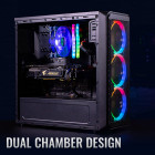 Корпус Aerocool SI-5200 RGB ARGB Tempered Glass Black - зображення 6