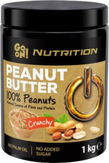 Арахисовая паста GO ON Nutrition Peanut butter crunchy 100% 1000 г (5900617031389)