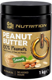 Арахисовая паста GO ON Nutrition Peanut butter smooth 100% 1000 г (5900617030276)