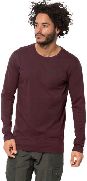 Лонгслив Jack Wolfskin Essential Longsleeve Men 1806041-2201 XL Бордовый (4060477312446) - изображение 1
