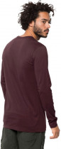 Лонгслив Jack Wolfskin Essential Longsleeve Men 1806041-2201 XL Бордовый (4060477312446) - изображение 3