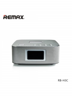 Bluetooth Колонка Remax RB-H3 3 in 1 BT3.0 Speaker with Alarm Clock Silver