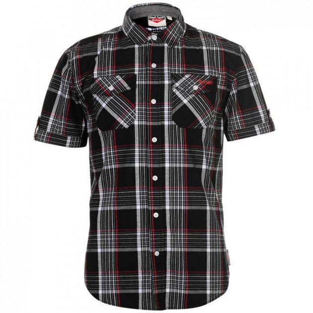 Рубашка Lee Cooper SS Check Black/White/Red, XL (10075627) - изображение 1