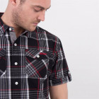 Рубашка Lee Cooper SS Check Black/White/Red, XL (10075627) - изображение 7