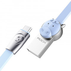 Кабель Rock Chinese Zodiac Micro cable 1M Horse-Blue
