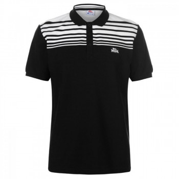 Поло Lonsdale Stripe Black/White, 4XL (10075435)