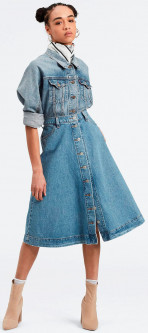 Джинсовая юбка Levi's Button Circle Skirt Front Page Worthy 30 (77889-0000)