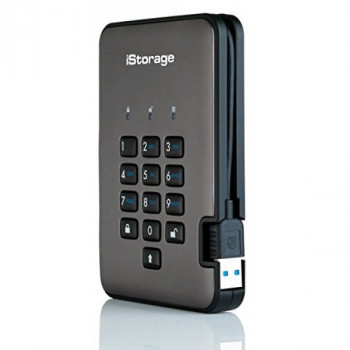 iStorage diskAshur Pro2 256-bit 3TB - Classified - Graphite