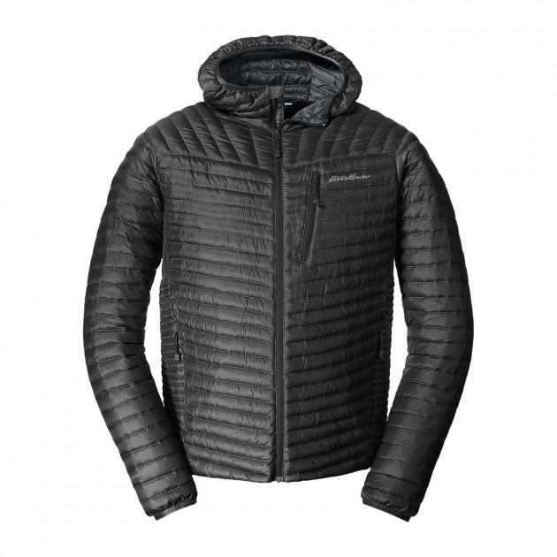 Куртка Eddie Bauer Mens MicroTherm StormDown Hooded BLACK L Черный (0856BK)