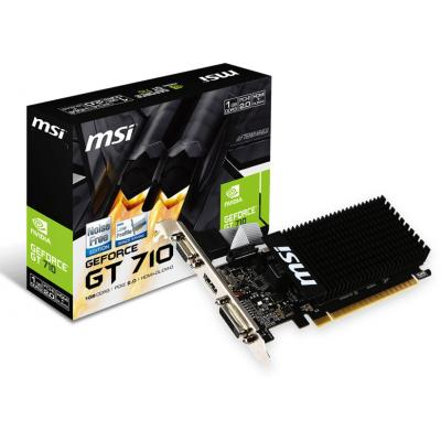 Видеокарта GeForce GT710 1024Mb MSI (GT 710 1GD3H LP) - изображение 1