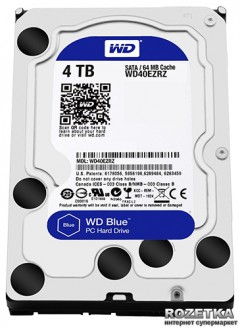 Жесткий диск Western Digital Blue 4TB 5400rpm 64MB WD40EZRZ 3.5 SATAIII
