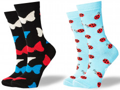 Носки GoodSox 328 Midnight Butterfly + Holly Cows 35-40 р 2 шт Разноцветные (4820216200605)
