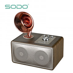 Беспроводная Bluetooth колонка SODO Z16 Rose Gold