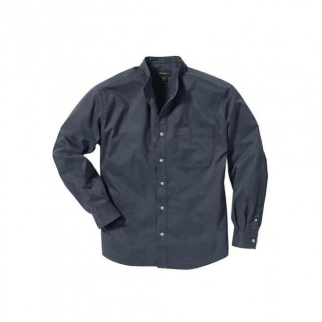 Рубашка Eddie Bauer Mens Classic Stand Shirt WASHED NAVY S Темно-синий (7341771WHNV-S)