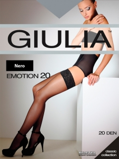 Чулки Giulia Emotion 20 Den 1/2 р Nero (4820040119861)