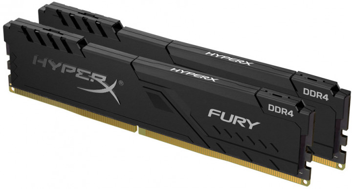 Оперативная память HyperX DDR4-2666 16384MB PC4-21300 (Kit of 2x8192) Fury Black (HX426C16FB3K2/16) - изображение 1