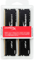 Оперативная память HyperX DDR4-2666 16384MB PC4-21300 (Kit of 2x8192) Fury Black (HX426C16FB3K2/16) - изображение 4