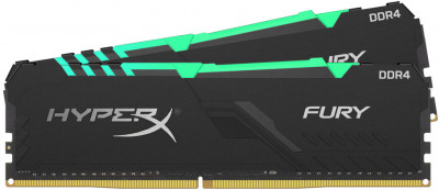 Оперативна пам'ять HyperX DDR4-3200 16384MB PC4-25600 (Kit of 2x8192) Fury RGB Black (HX432C16FB3AK2/16)