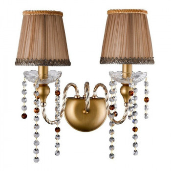 Бра Crystal Lux Alegria Ap2 Gold-Brown