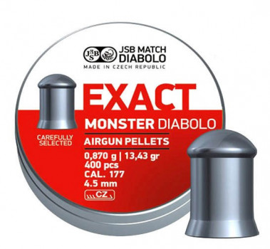 Кулі JSB Diabolo EXACT MONSTER 4,5 mm. 400шт. 0,870 р.