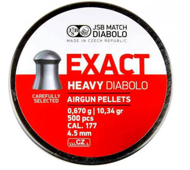 Кулі JSB Diabolo EXACT HEAVY 4,5 mm. 500шт. 0,670 р.