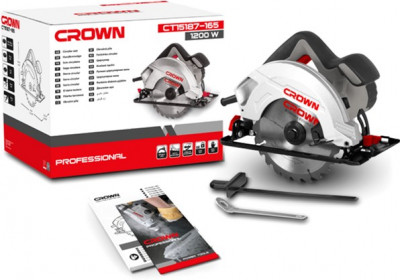 Пила циркулярна Crown CT15187-165