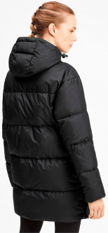 Пуховик Puma Long Hooded Down Coat 58005501 S Black (4060981317555)